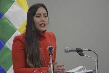Gabriela Mendoza, ministra de Planificación Bolivia
