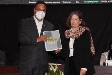 Luis Arce recibe informe GIEI