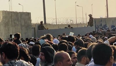 Afganistán aeropuerto colapsado