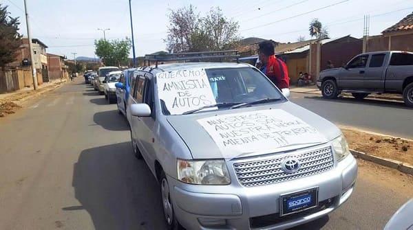 autos indocumentados Bolivia