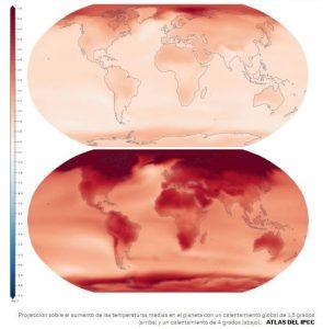 Cambio climático proyección