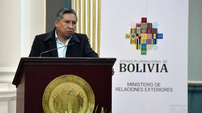 Rogelio Mayta, Canciller Bolivia