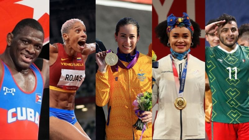 América Latina medallero Tokio 2020