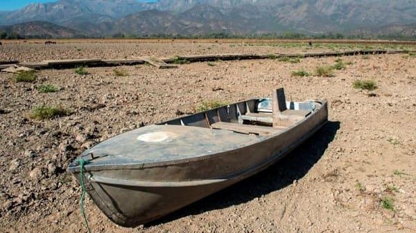 Medioambiente sequía Laguna Aculeo