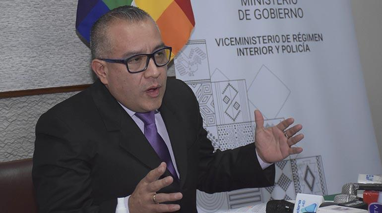 Nelson Cox Viceministro Régimen Interior Bolivia