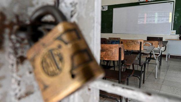 Educación presencial cerrada, América Latina