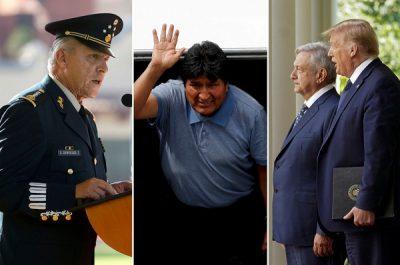 Salvador Cienfuegos, Evo Morales, AMLO y Trump