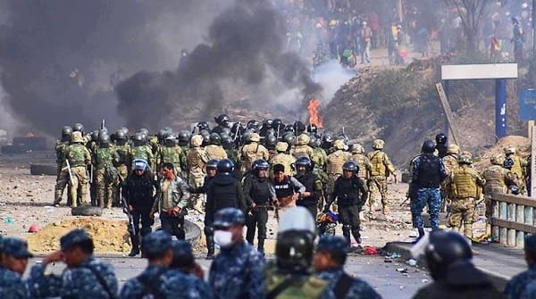 Sacaba, enfrentamientos Huayllani 2019