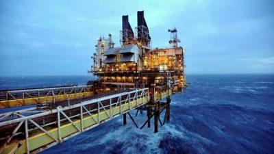 Hidrocarburos. Plataforma petrolera. Escocia