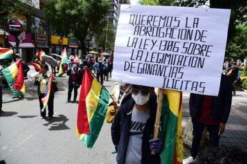 Protestas contra ley 1386 Bolivia