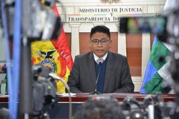 Iván Lima, ministro justicia, Bolivia