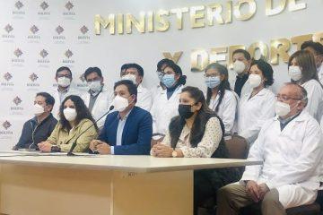 Jeyson Auza, ministro de Salud Bolivia en conferencia prensa