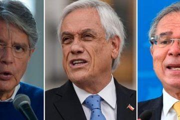 Guillermo Lasso, Sebastián Piñera, Paulo Guedes